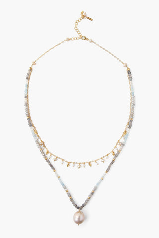 Blue Lace Agate Pre-Layered Necklace