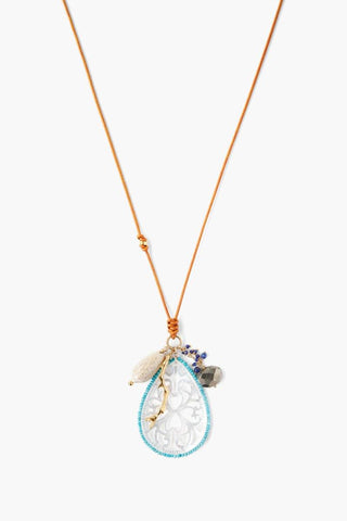 Multi Mix Sea Charm Midi Necklace