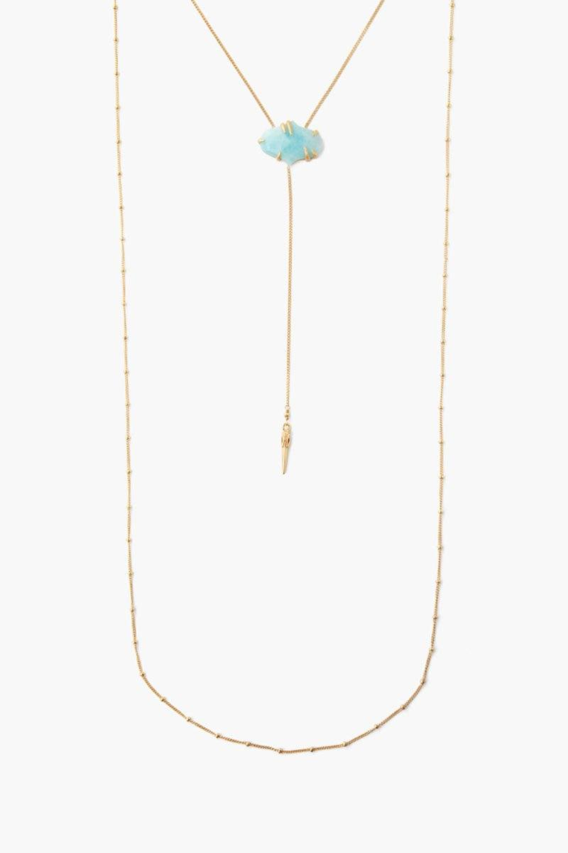 Pronged Amazonite Layered Necklace