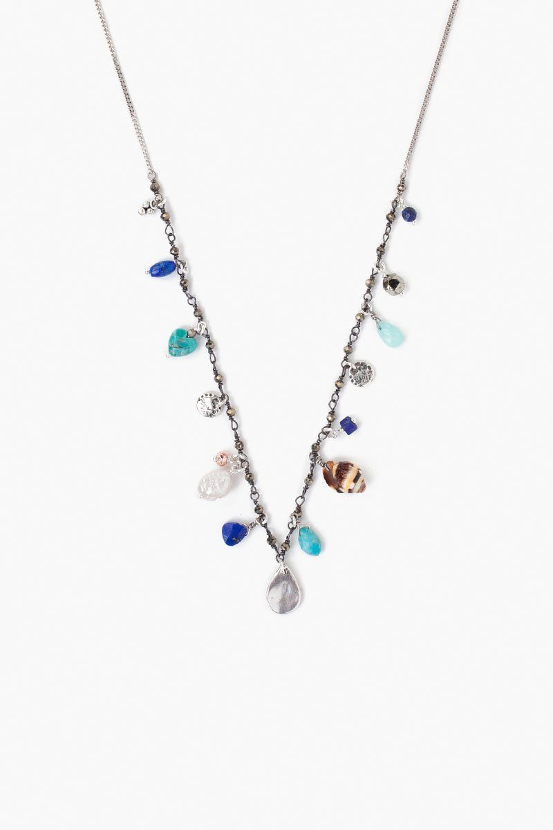 Blue Mix Sea Charm Necklace