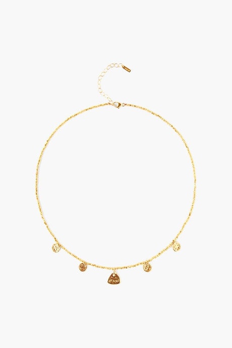 Yellow Gold Squash Blossom Charm Necklace