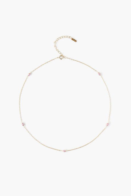 Pink Nano Evil Eye Necklace