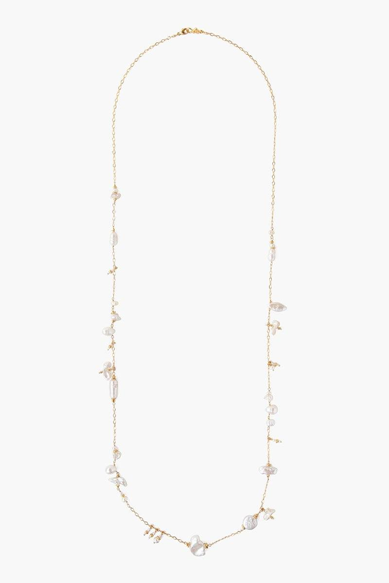 White Pearl Mix Santa Maria Long Necklace