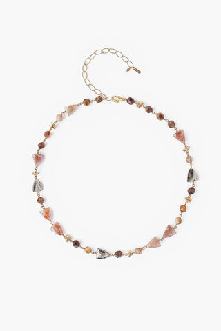 Strawberry Quartz Mix Starcut Necklace