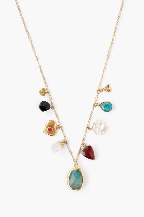 Multi Mix Donna Charm Necklace