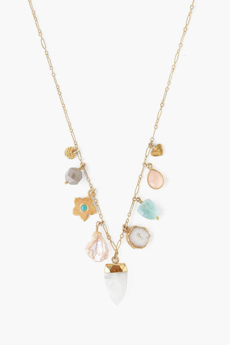 Pink Mix Donna Charm Necklace