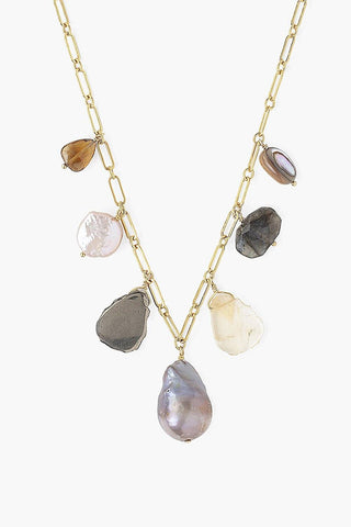 Gold Mix Charm Necklace