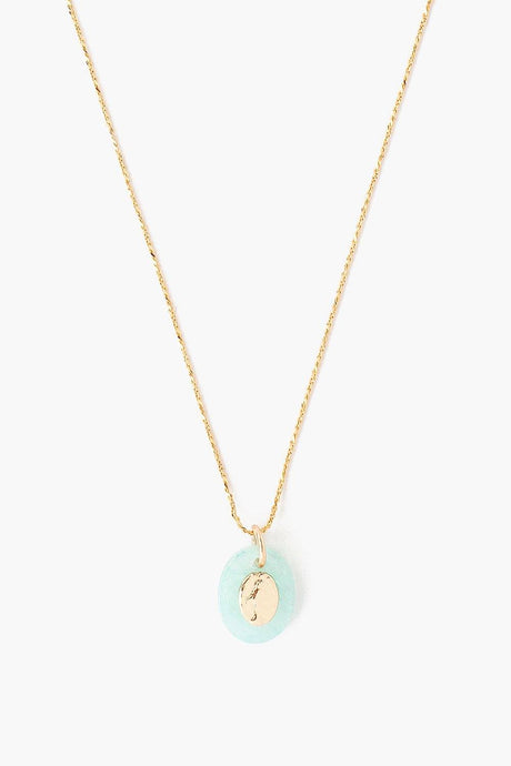 Amazonite Donna Charm Necklace
