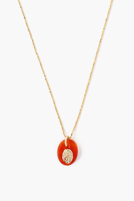 Carnelian Donna Charm Necklace
