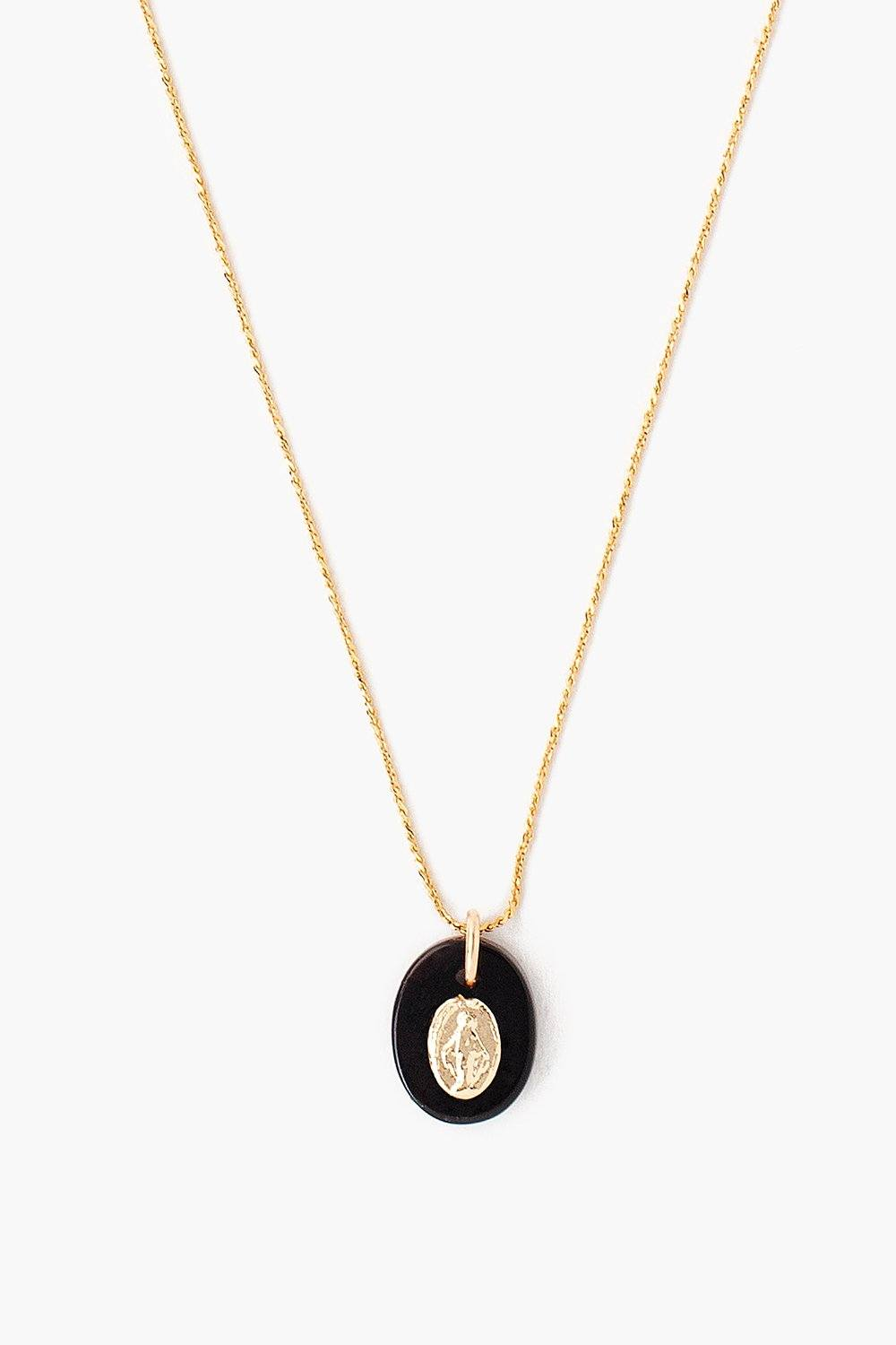 Onyx Donna Charm Necklace