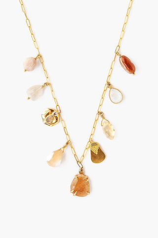 Sunstone Mix Charm Necklace