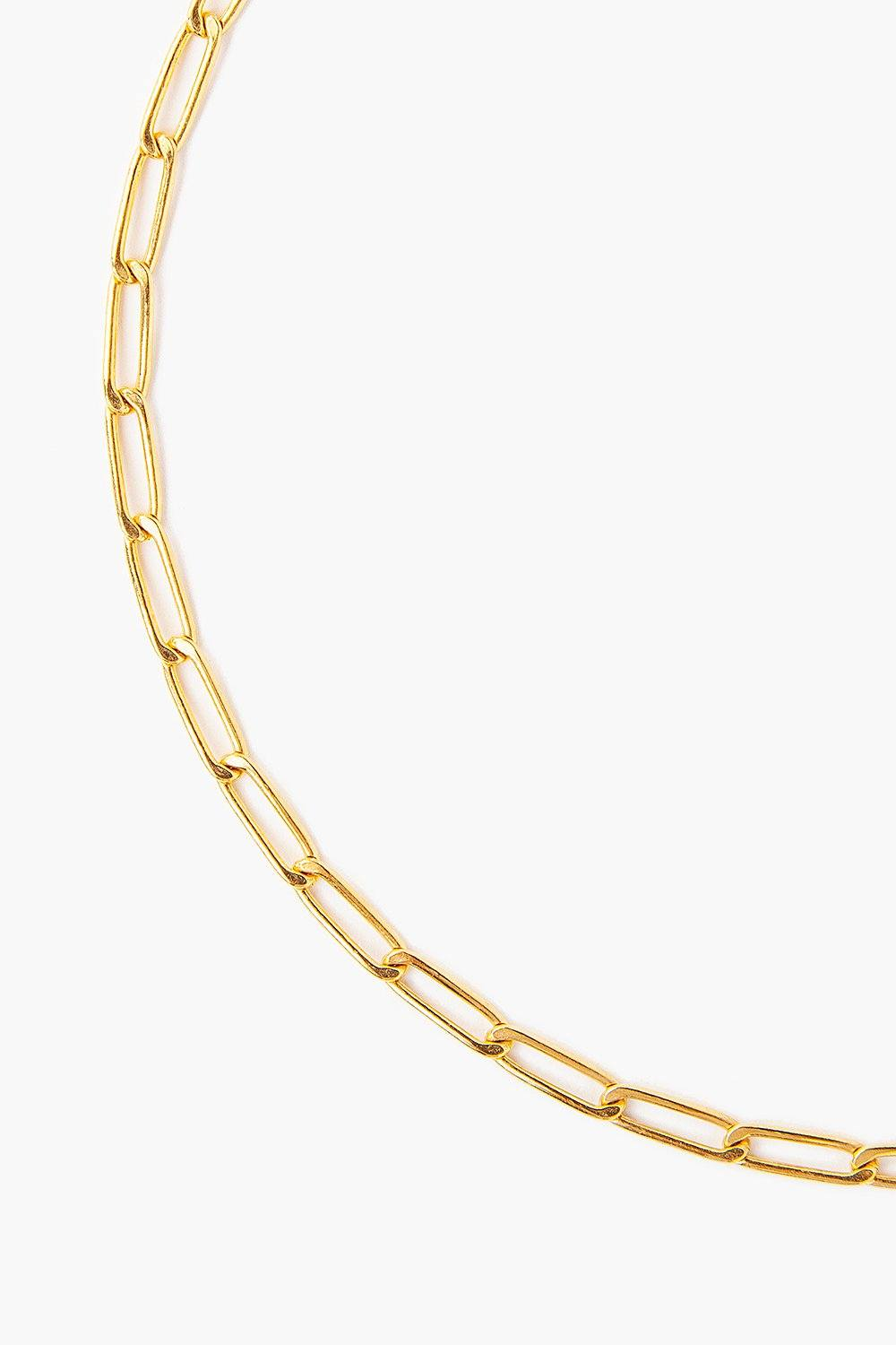 Yellow Gold Box Chain Necklace