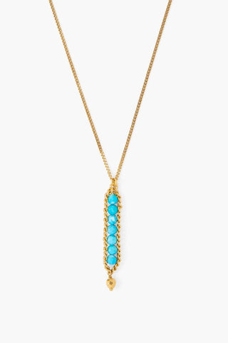 Turquoise Chain Wrap Necklace