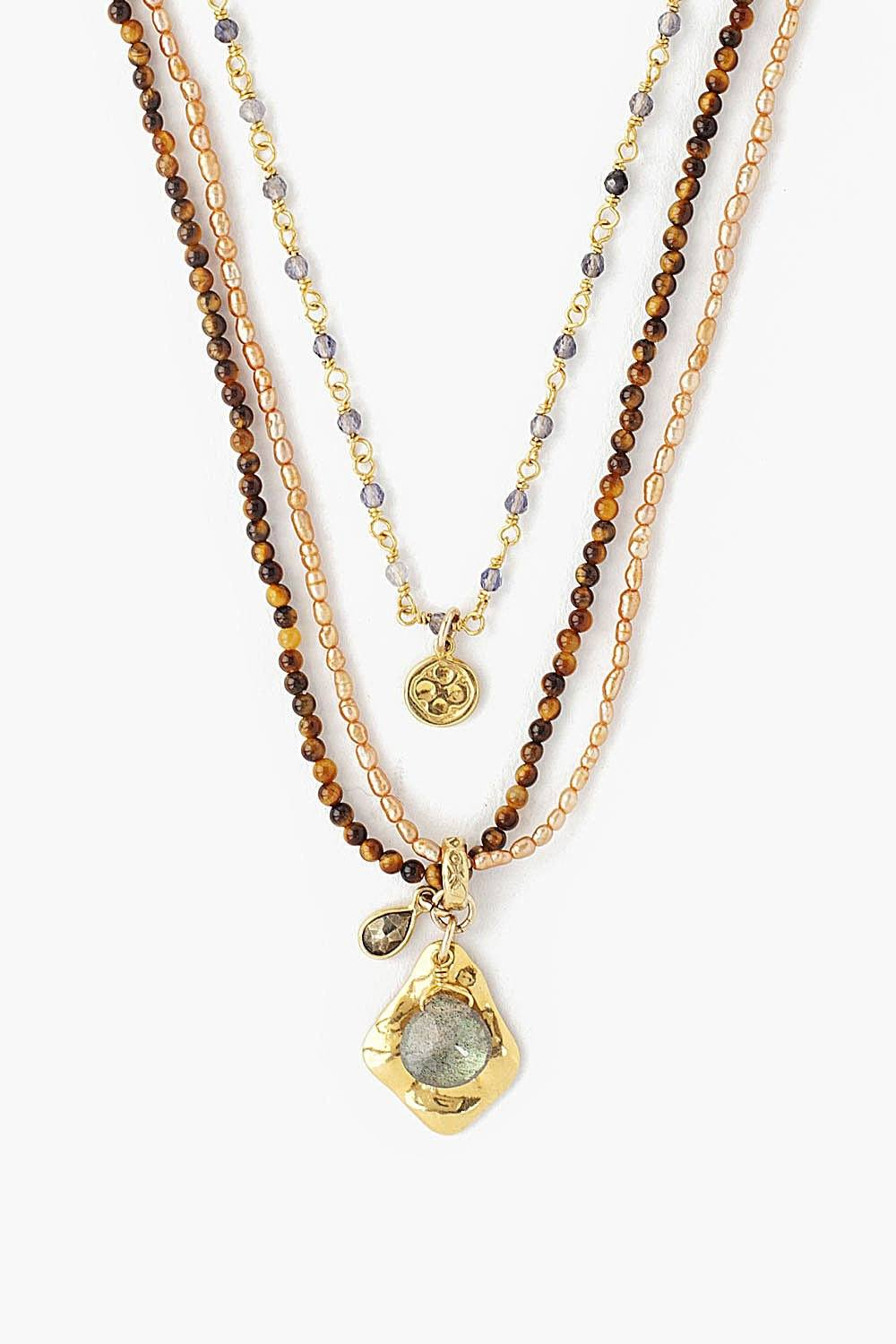 Tiger's Eye Mix Multi-Strand Necklace