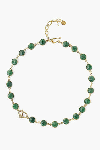 Snake and Indian Aventurine Necklace