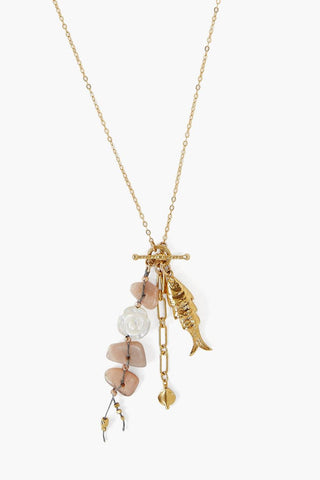 Pink Mix Koi Charm Necklace