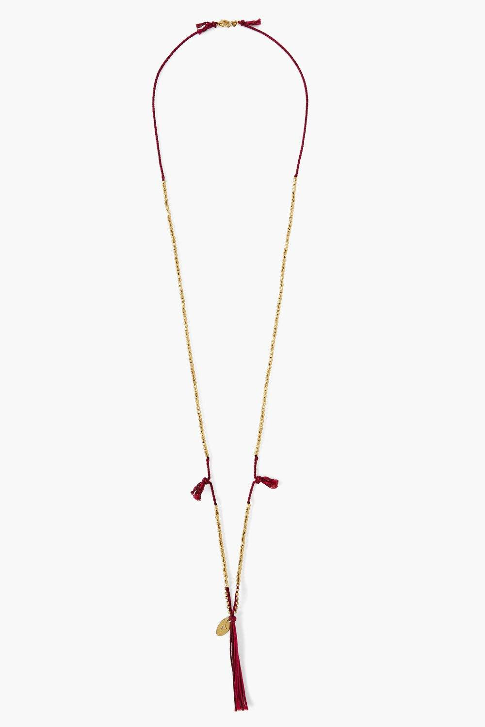 Fuchsia Twist Cord Layering Necklace