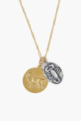 Gold and Silver Mix Zodiac Charm Necklace