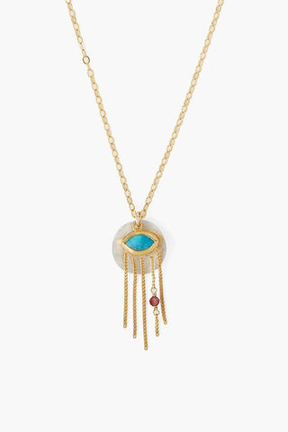 Turquoise Mix Crying Evil Eye Pendant Necklace