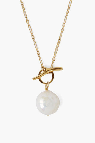 White Freshwater Pearl Toggle Necklace