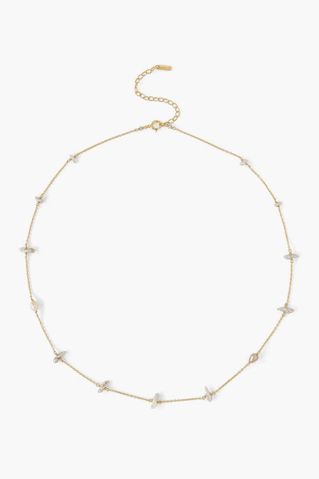 Freeform Pearl Short Necklace