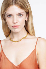 Gold Puff Chain Necklace