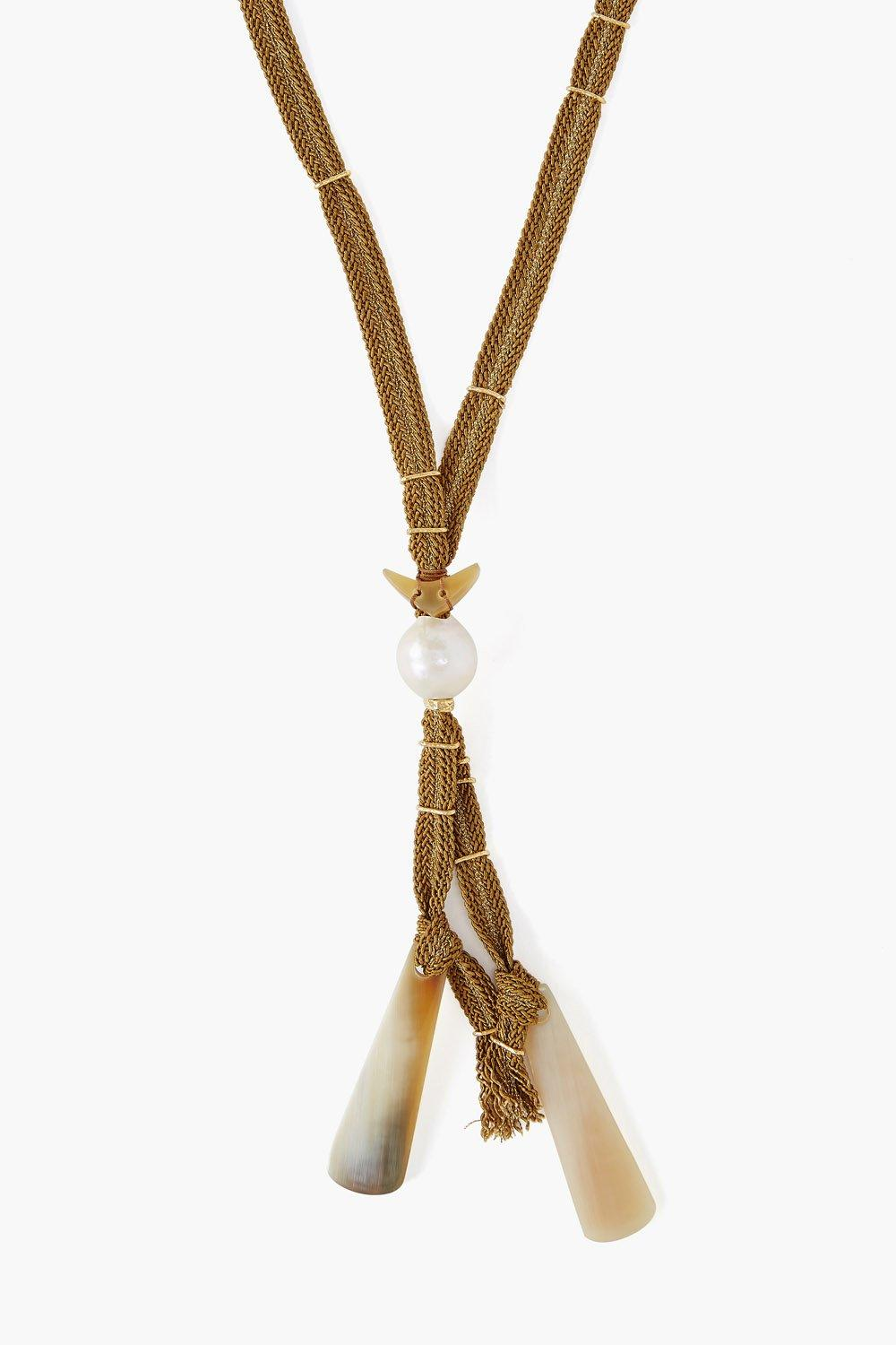 White Pearl Mix Adjustable Necklace