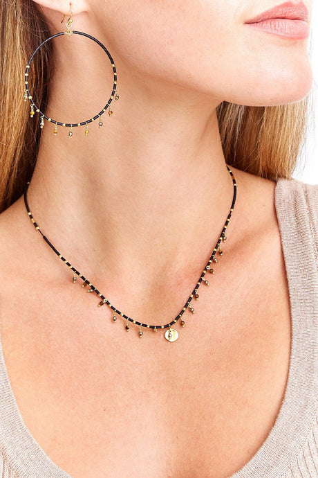 Black Mix Seed Bead Necklace