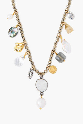 Pyrite Voyage Charm Necklace