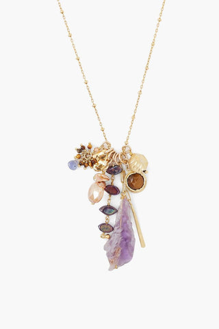 Amethyst Mix Voyage Charm Necklace