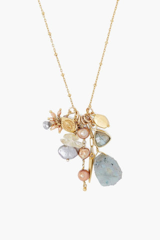 Labradorite Mix Voyage Charm Necklace