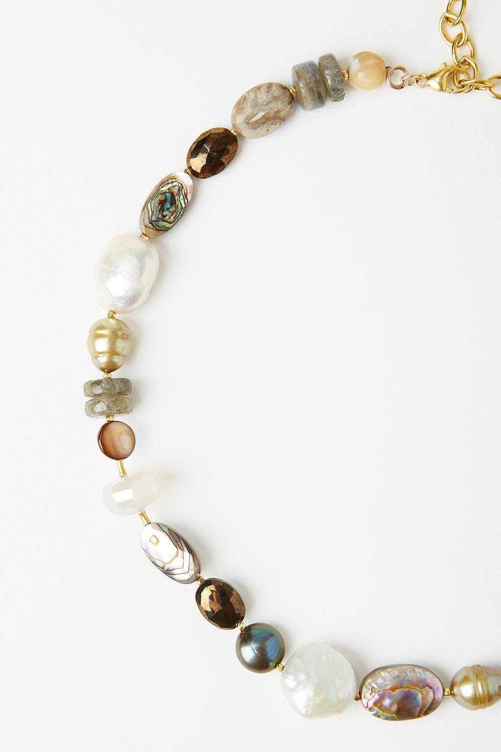 Abalone and Labradorite Mix Necklace
