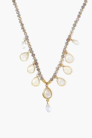 Moonstone Mix Chandelier Necklace