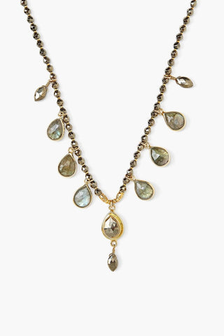 Pyrite Mix Chandelier Necklace