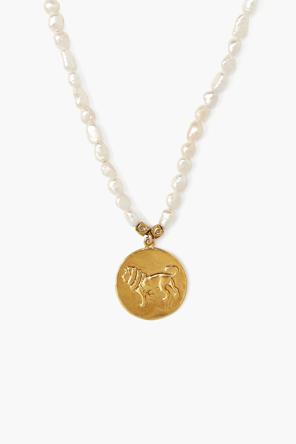 Lion and Pearl Necklace