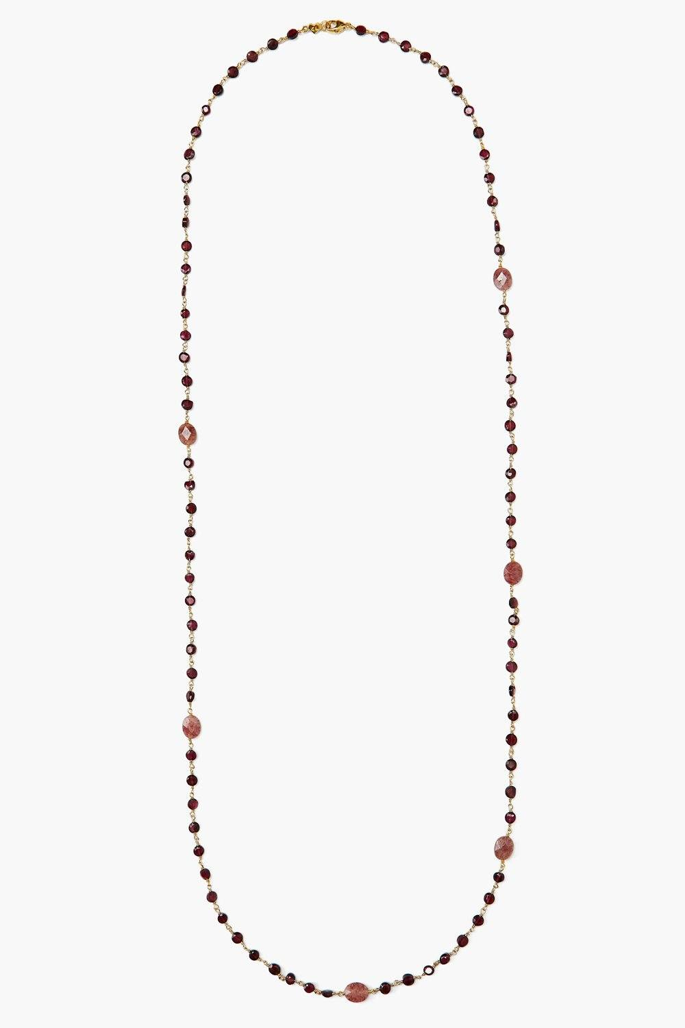 Garnet and Muscovite Necklace