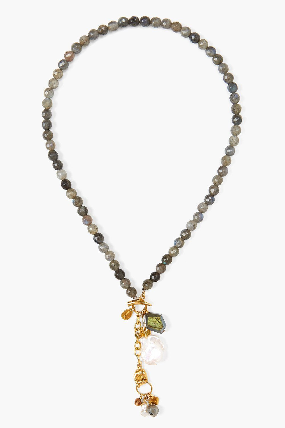 Labradorite Mix Mano Lariat Necklace