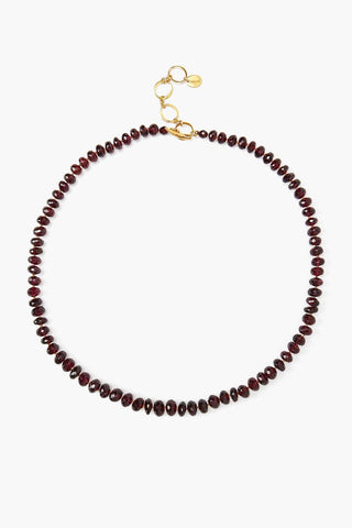 Garnet Toggle Necklace