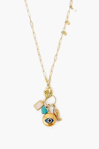 Turquoise Evil Eye Charm Necklace