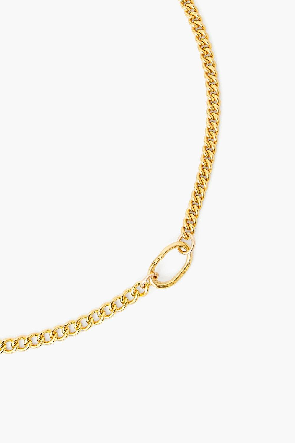 Sculptural Ring Gold Chain Link Necklace