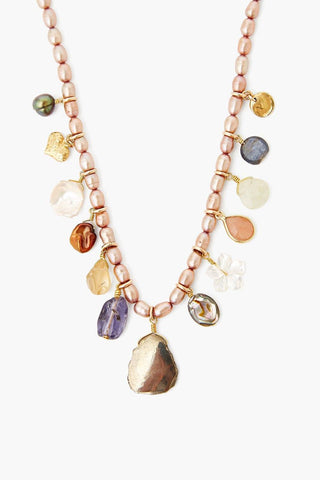 Taupe Pearl and Abalone Shell Voyage Necklace