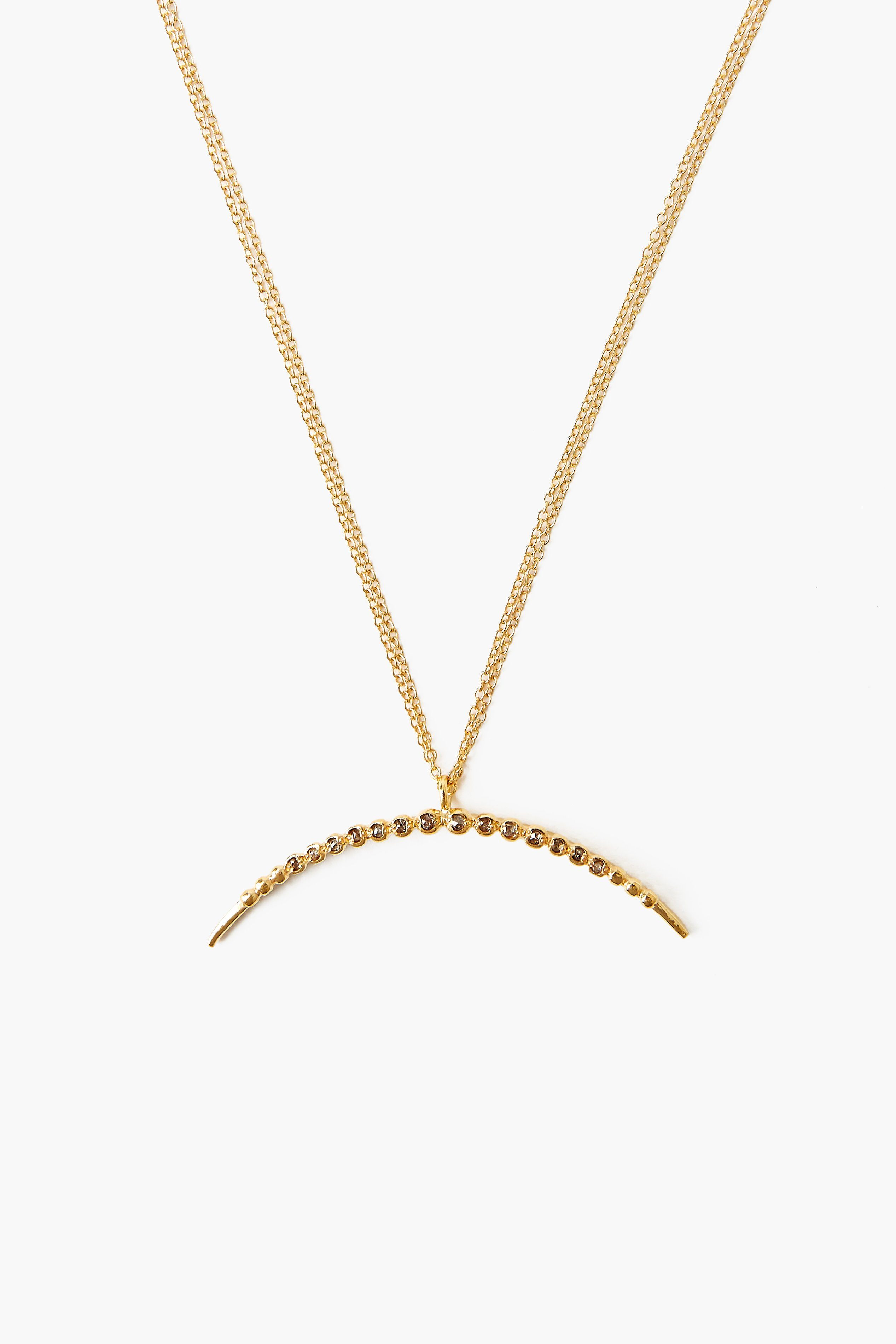 Champagne Diamond Horn Necklace