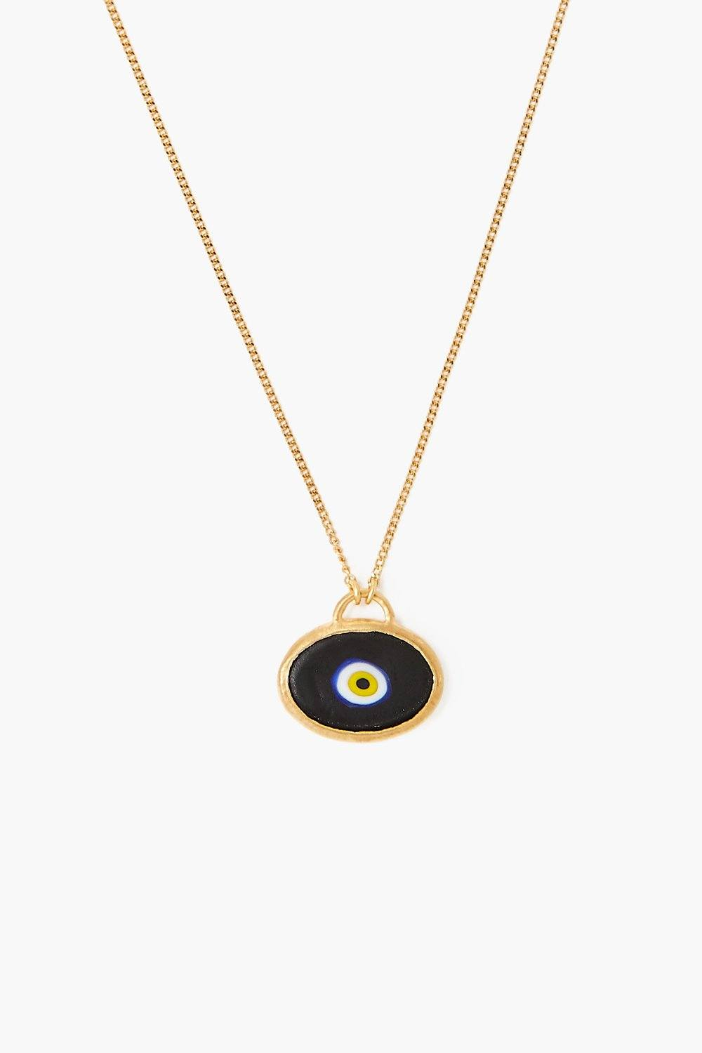 Black Grand Evil Eye Pendant Necklace