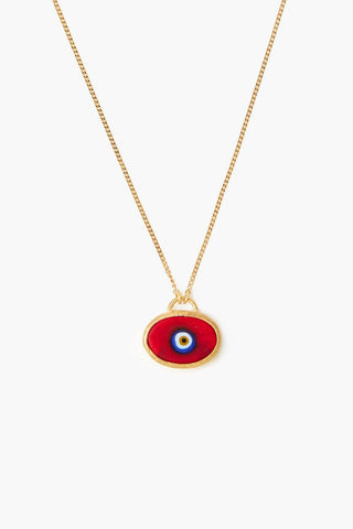 Red Grand Evil Eye Pendant Necklace