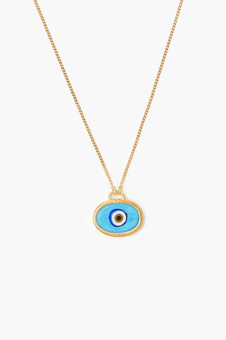 Turquoise Grand Evil Eye Pendant Necklace