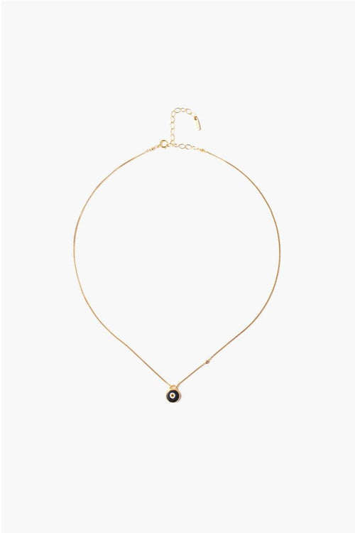 Black Evil Eye Necklace With Champagne Diamond (Pre-Order)