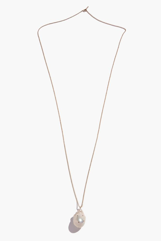 Champagne Diamond Freshwater Pearl Layering Pendant Necklace (Pre-Order)