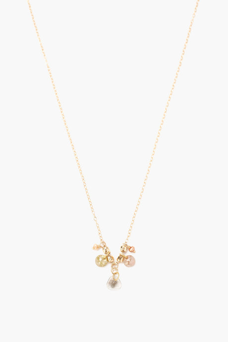 Sliced Champagne Diamond Charm Necklace