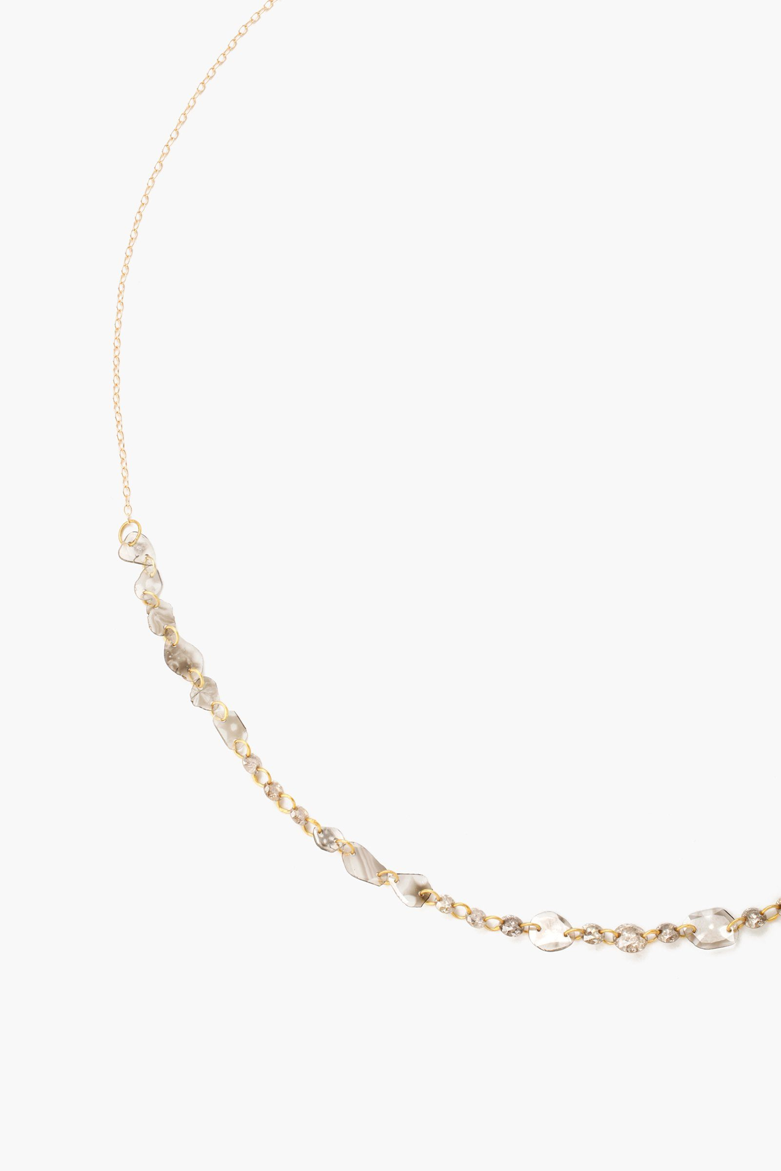 14k Sliced Champagne Diamond Short Necklace