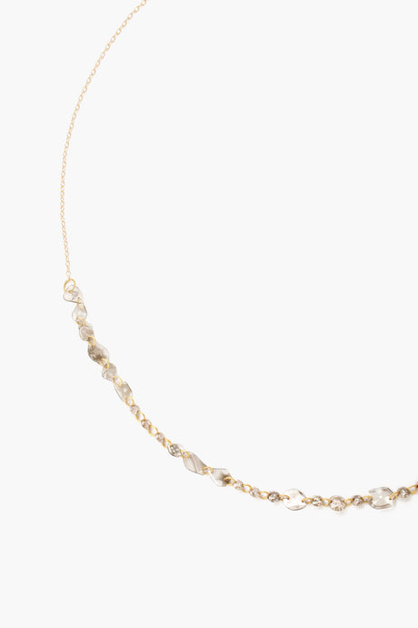Sliced Champagne Diamond Short Necklace